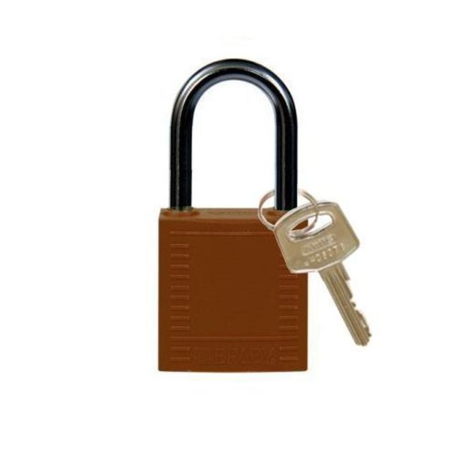 Nylon Kompakte Sicherheits-vorhängeschloss braun 814130