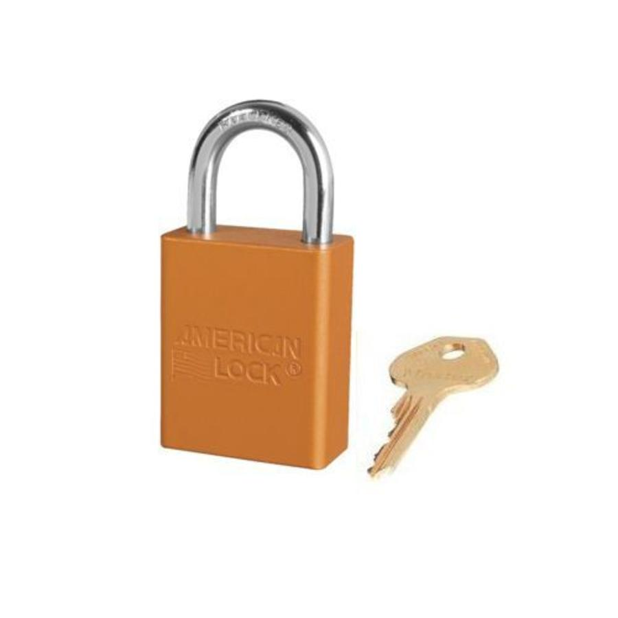 Sicherheitsvorhängeschloss aus eloxiertes Aluminium orange S1105ORJ