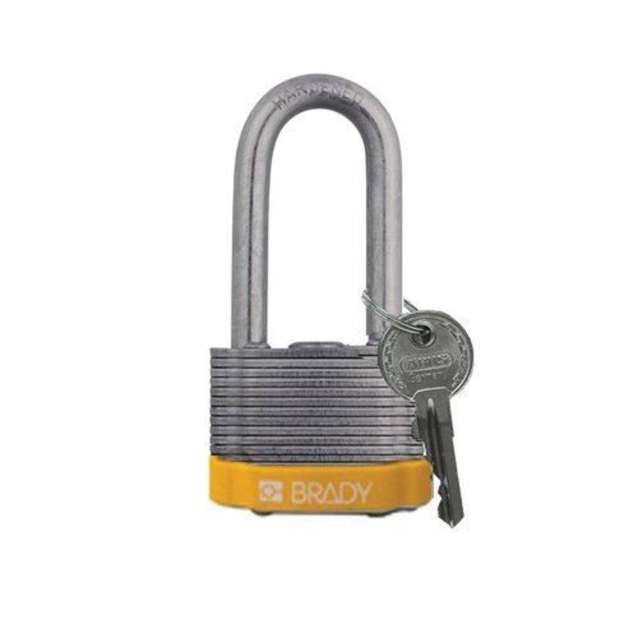 Sicherheits-vorhängeschloss Stahl gelb 814107