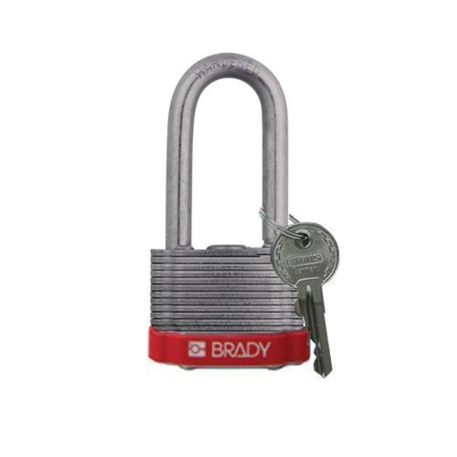 Sicherheits-vorhängeschloss Stahl rot 814106