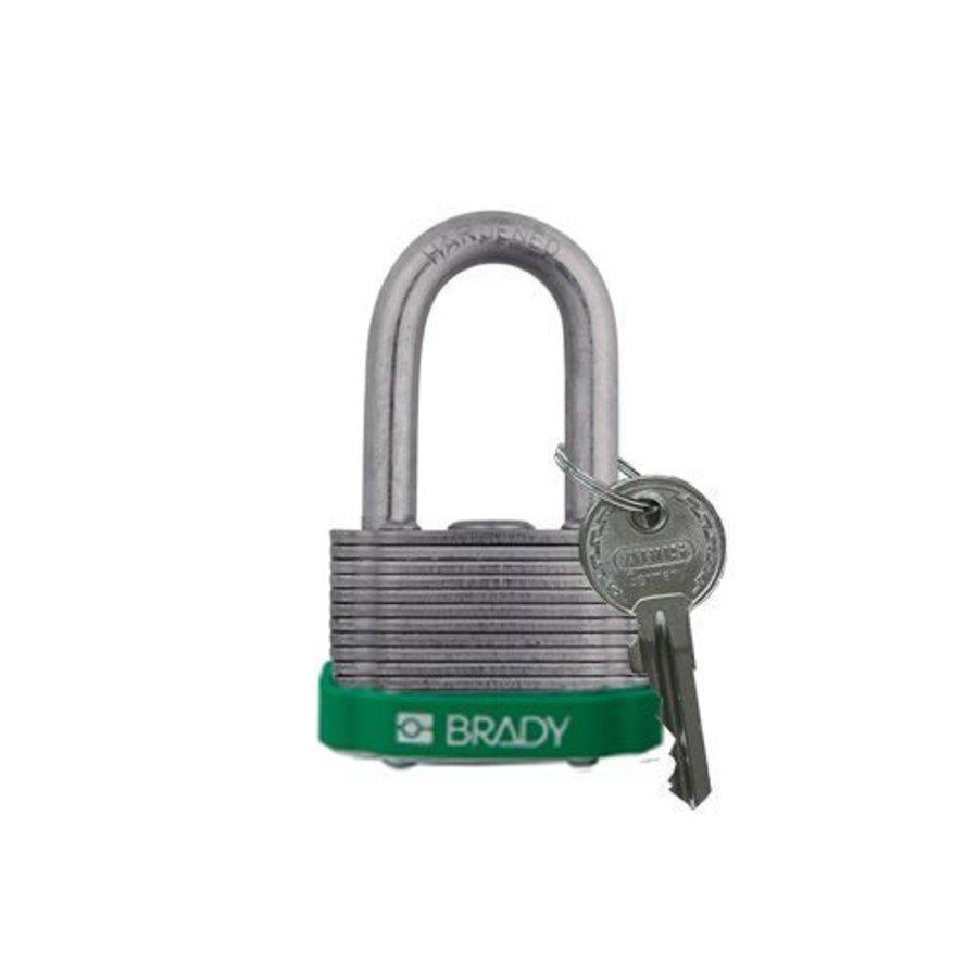 Sicherheits-vorhängeschloss Stahl grün 814099