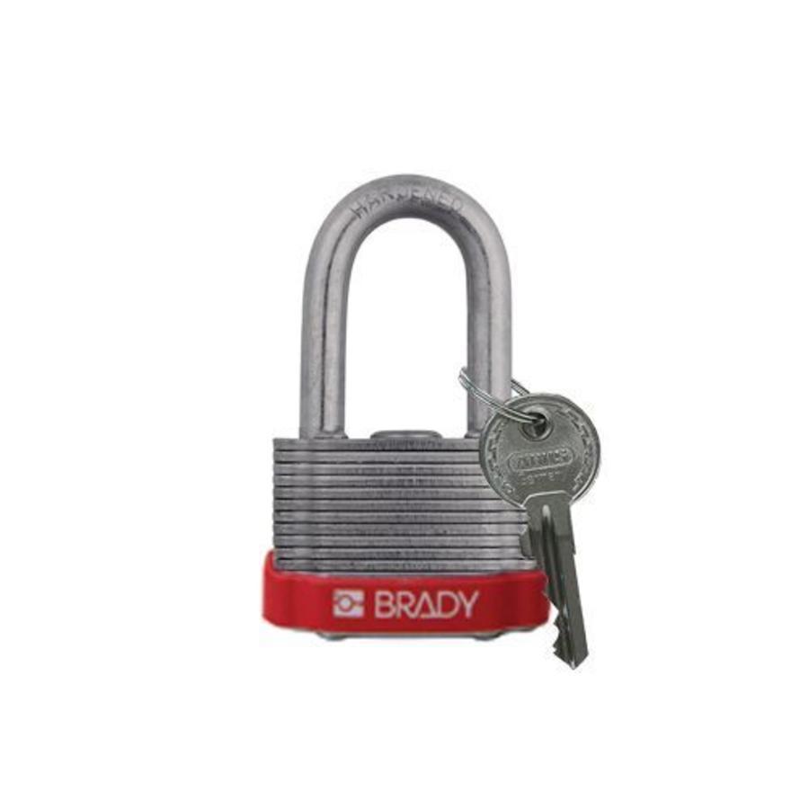 Sicherheits-vorhängeschloss Stahl rot 814097