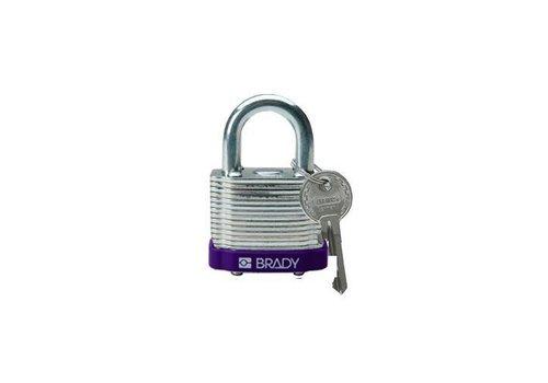 Sicherheits-vorhängeschloss Stahl lila 814093