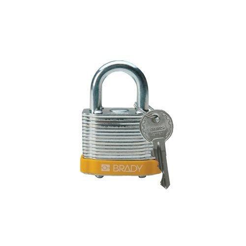 Sicherheits-vorhängeschloss Stahl gelb 814089