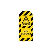 Anhänger für Warnhinweise Gefahr Niederländisch