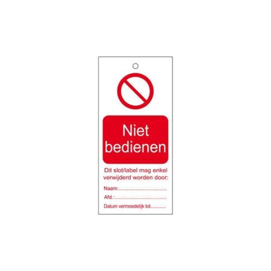 Anhänger für Warnhinweise Niederländisch