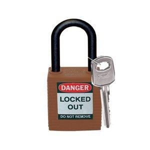 Brady Nylon Sicherheitsschloss braun 813639