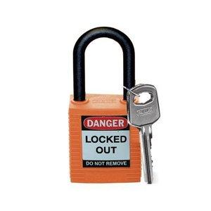 Brady Nylon Sicherheitsschloss orange 813598
