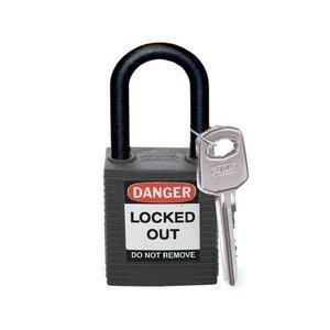 Brady Nylon Sicherheits-vorhängeschloss schwarz 813595
