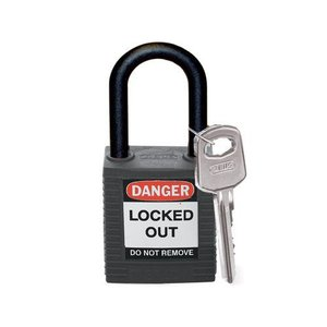 Brady Nylon Sicherheitsschloss schwarz 813595