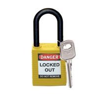 Nylon Sicherheits-vorhängeschloss gelb 813596
