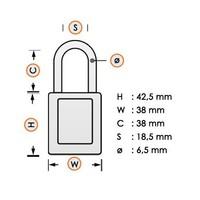 Nylon Sicherheitsschloss blau 813593