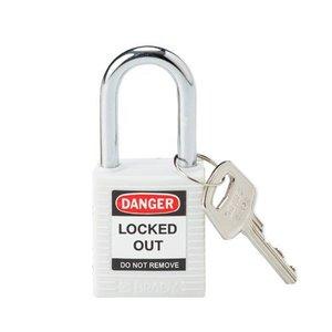 Brady Nylon Sicherheits-Vorhängeschloss weiß 813638