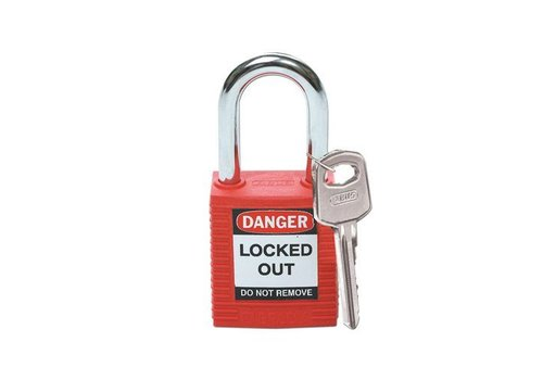 Nylon Sicherheits-vorhängeschloss rot 051339