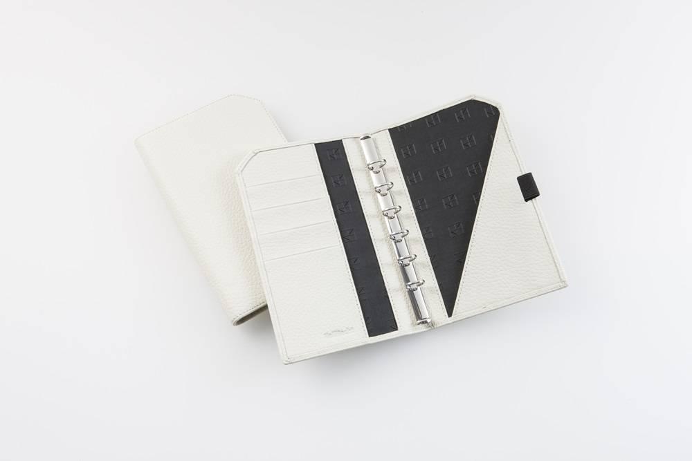 "Lederringbuch ""Classic"", 13-mm-Ringmechanik -creme"