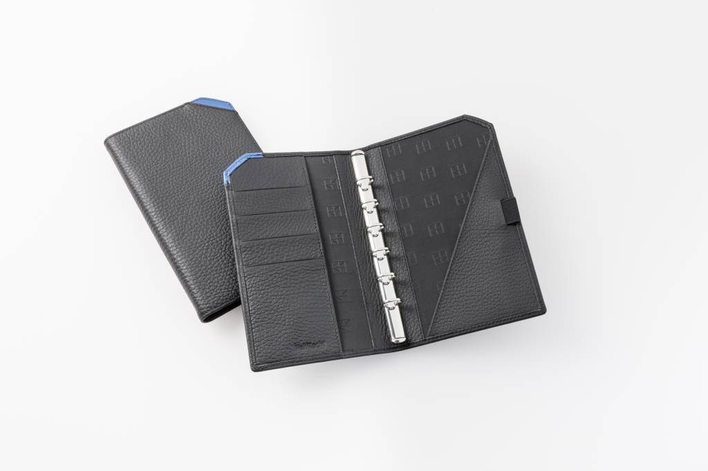 "Lederringbuch ""TeamLine"", 13-mm-Ringmechanik blau"