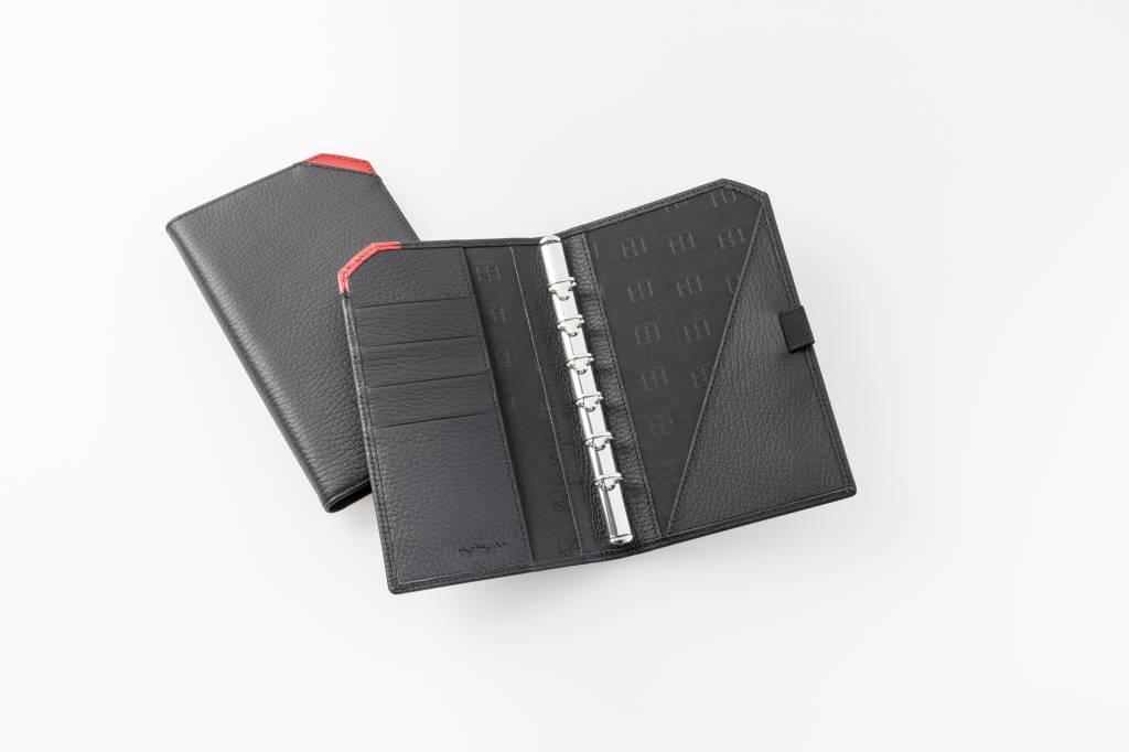 """Lederringbuch """"TeamLine"""", 13-mm-Ringmechanik rot"""