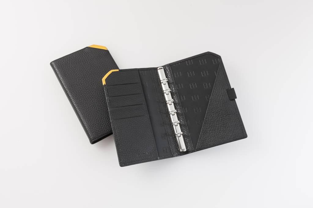 "Lederringbuch ""TeamLine"", 13-mm-Ringmechanik gelb"