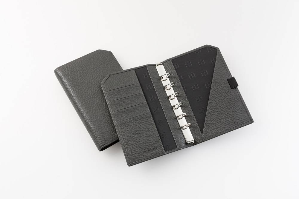 "Lederringbuch ""Classic"", 17-mm-Ringmechanik granitgrau"