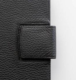Lederlasche einzeln - schwarz