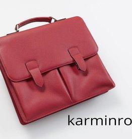 Leder-Businesstasche - Karminrot