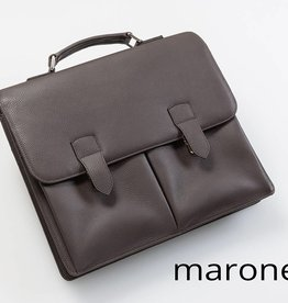 Leder-Businesstasche - Marone