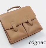 Hochwertige Leder-Businesstasche - Cognac