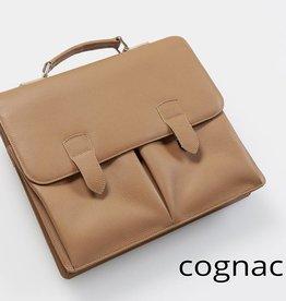 Leder-Businesstasche - Cognac