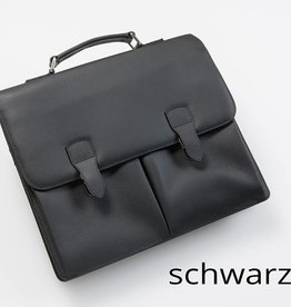 Leder-Businesstasche - Schwarz