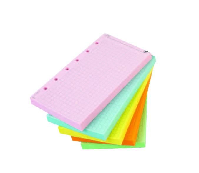 Karopapier, farbig