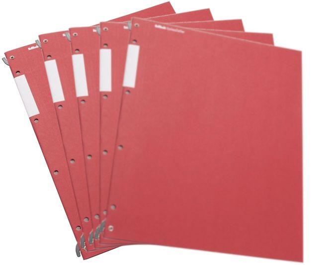 HelfRecht-SystemHefter - Rot - 5er-Pack
