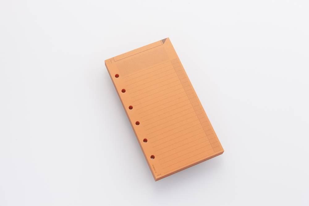 Notizzettel AM2 farbig - Rotorange