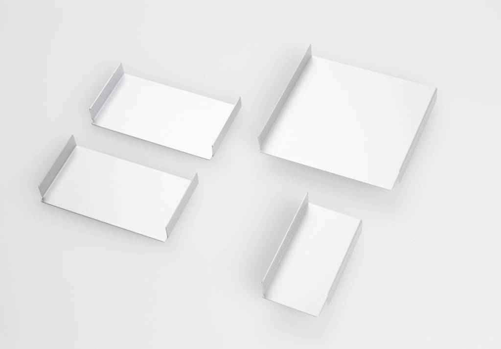 Aluminium Ablageschalen für HelfRecht-Notizzettel