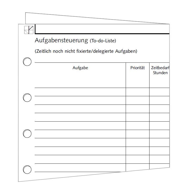 Aufgabensteuerung - DIN A4