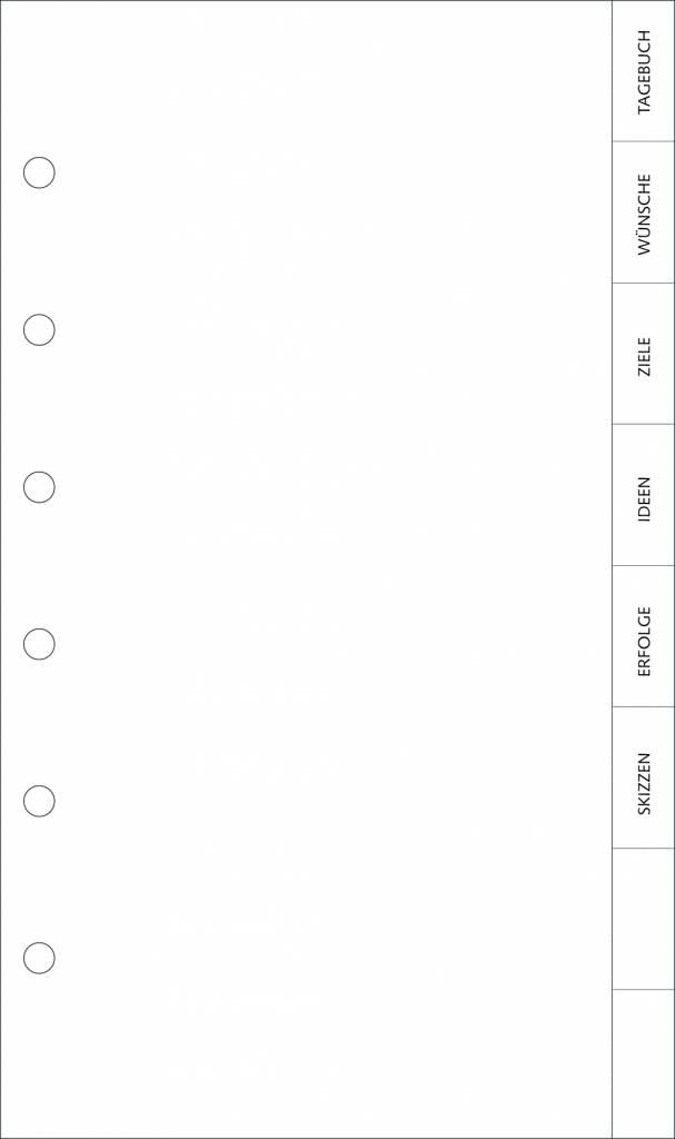 Tagebuch Compagnon  - Register 8-teilig