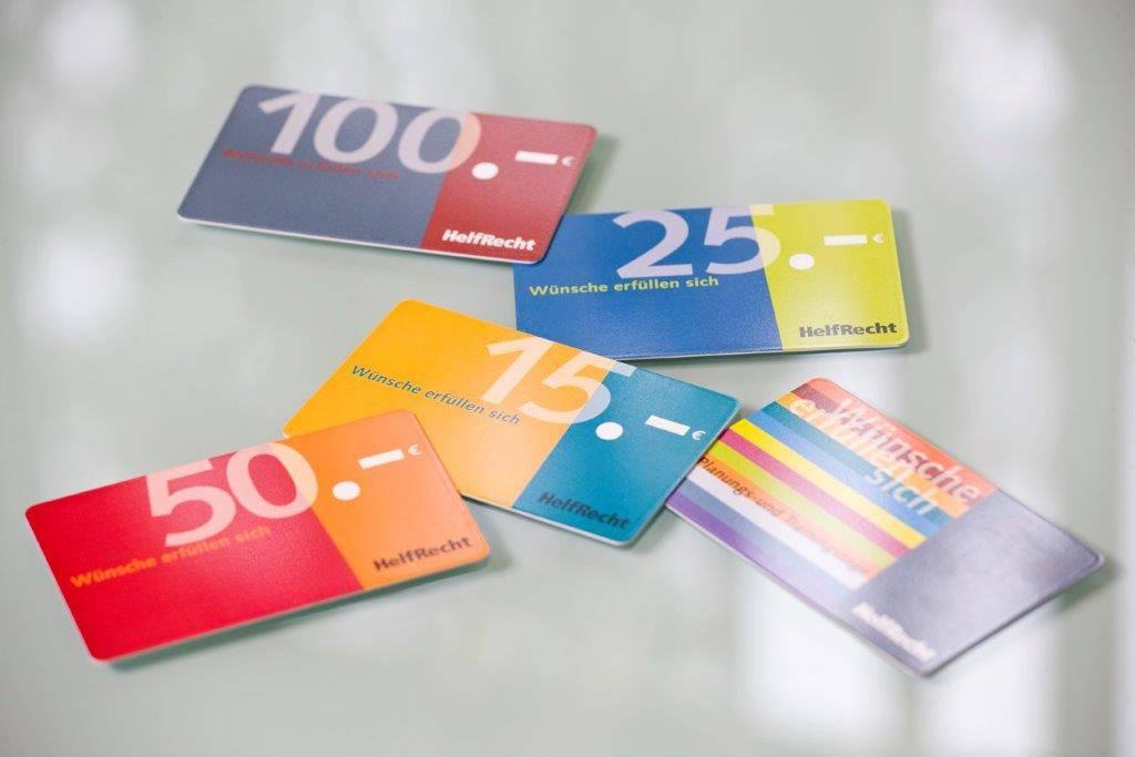 Gutscheinkarte von HelfRecht 15 Euro