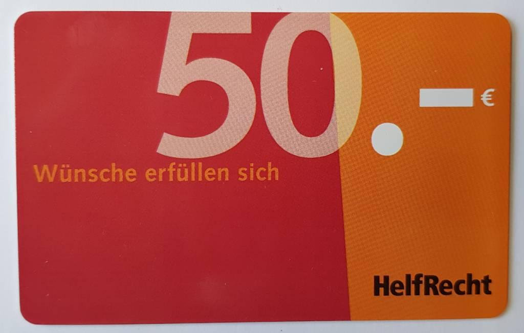 Gutscheinkarte von HelfRecht 50 Euro