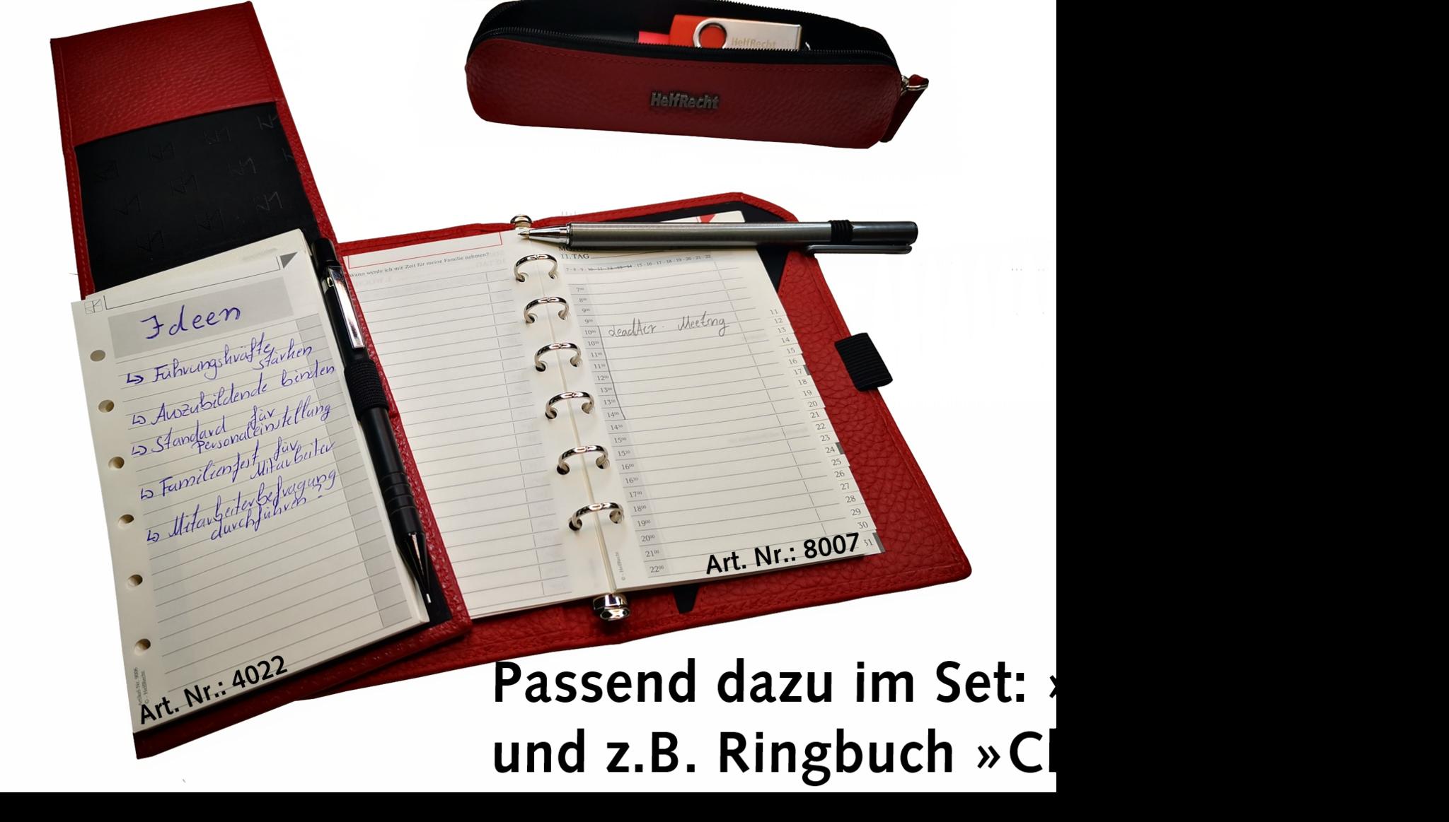 Stiftetui für Büro und unterwegs - Karminrot