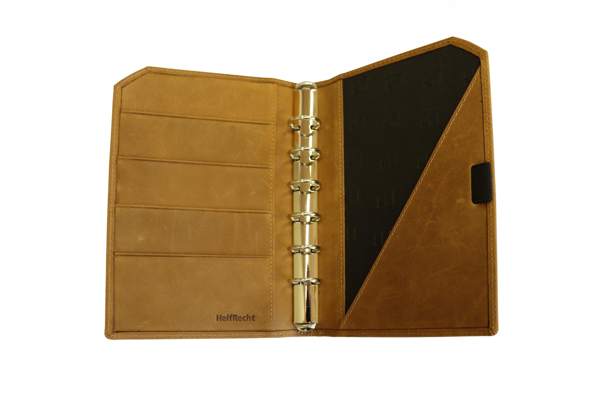 "Lederringbuch ""Classic"" toffee im Vintage-Look"