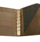 "Lederringbuch ""Classic"" chocolate im Vintage-Look"