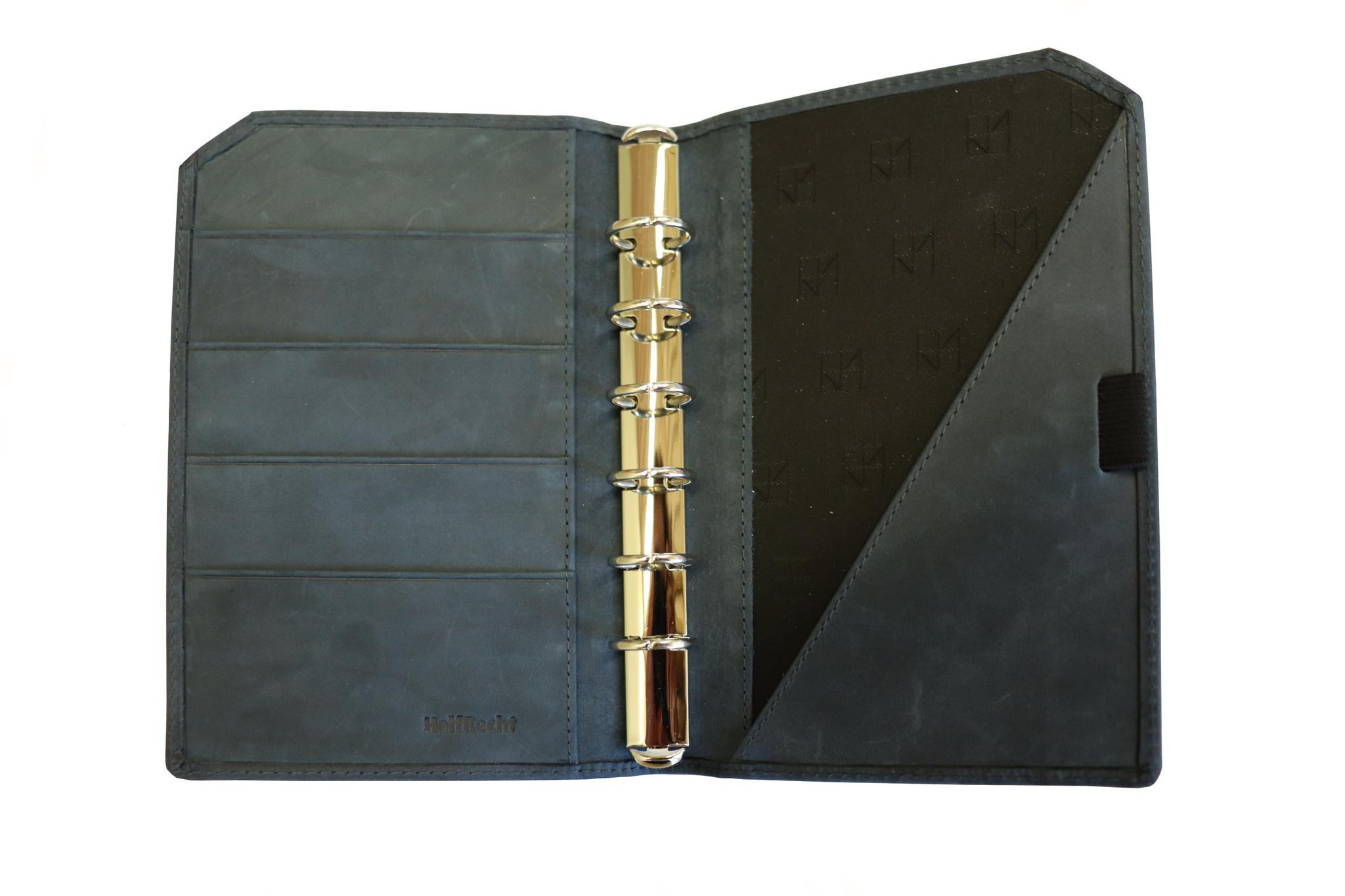 "Lederringbuch ""Classic"" dark blue im Vintage-Look"
