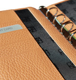 """Lederringbuch """"Classic L"""" -Cognac"""