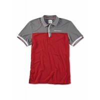 BMW BMW GOLFSPORT MEN'S POLO SHIRT - Grey / Red