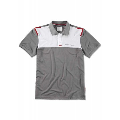 BMW BMW GOLFSPORT MEN'S POLO SHIRT - Grey / White