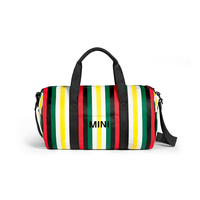 MINI MINI STRIPED DUFFLE BAG