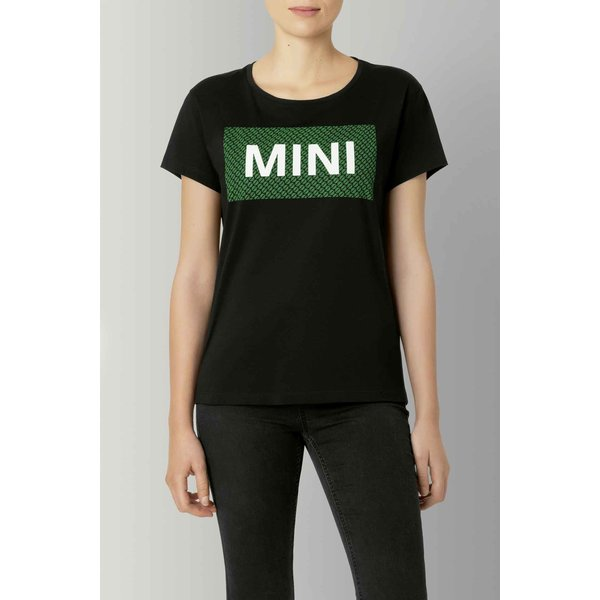 MINI Mini Wordmark T-Shirt Dames Zwart