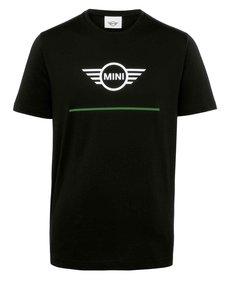 MINI Mini Wing logo T-Shirt Heren Zwart