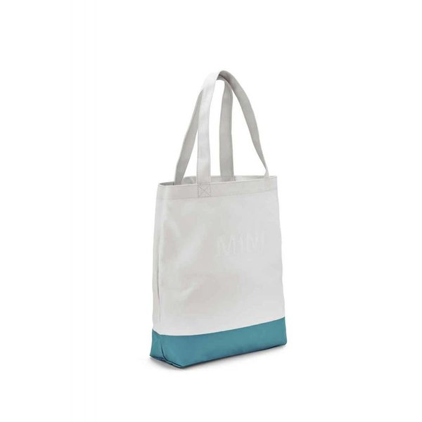 MINI MINI Shopper Colour Block White / Aqua