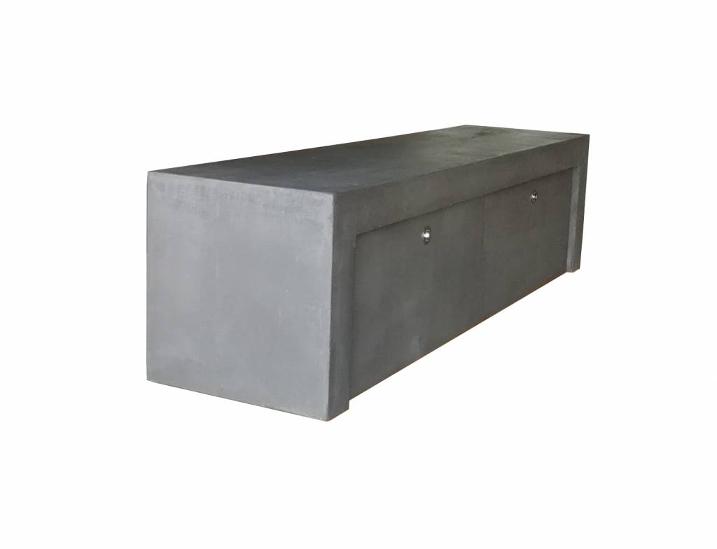 TV Lowboard Betonoptik mit 2 Schubladen