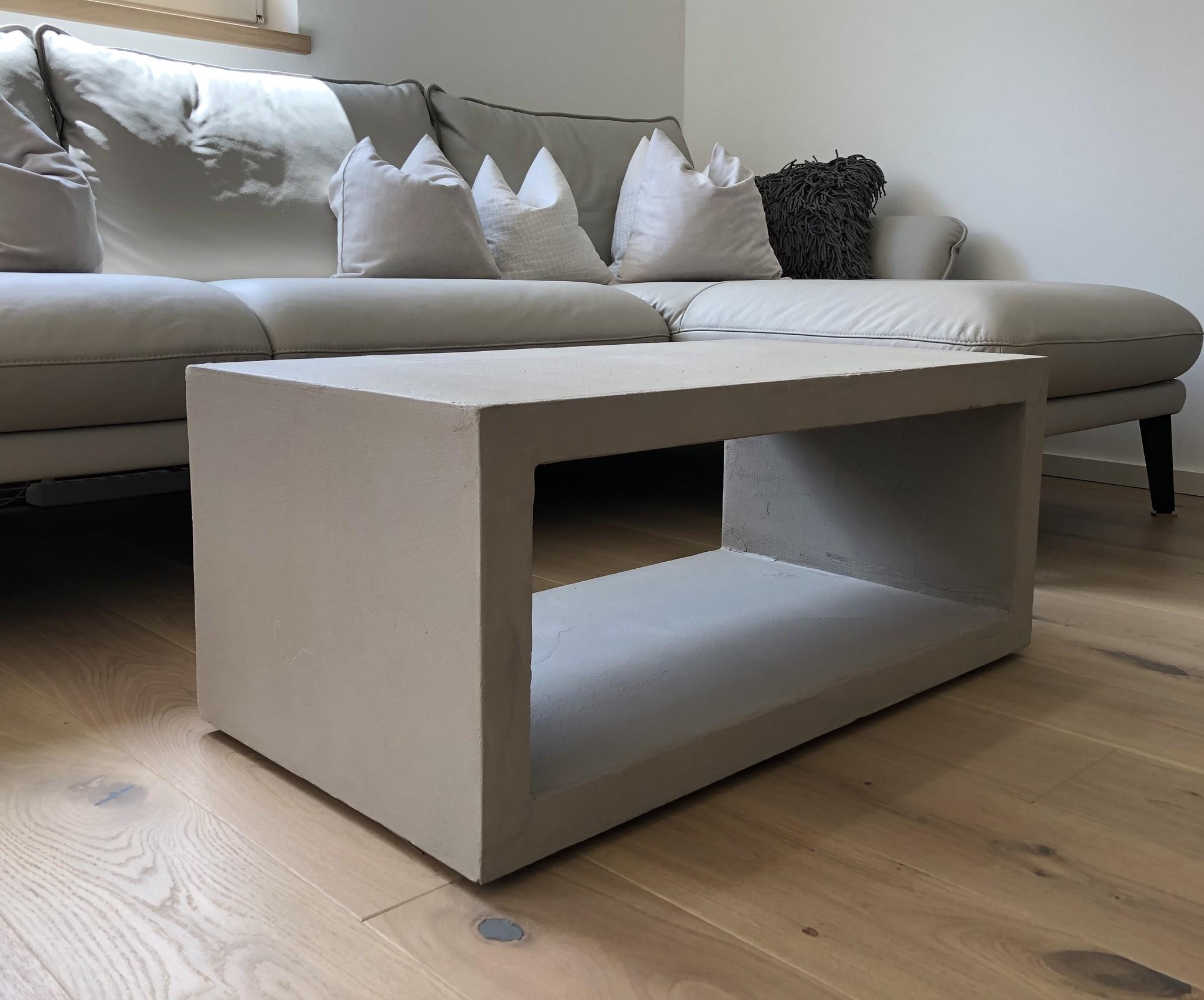 Couchtisch Design Industrial, Beton Cube